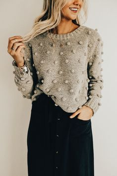 - Sweater Fashion - Strathcona Sweater pattern by Tara-Lynn Morrison knitted sweater. Fall Outfits, Cute Outfits, Knit Fashion, Knitwear Fashion, Sweater Fashion, Fashion Fashion, Pulls, Modest Fashion, Dress To Impress