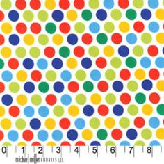 Michael Miller House Designer - Dots - Diddly Dot in Primary http://www.hawthornethreads.com/