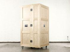 The CRATES furniture series by Naihan Li. (Crate Wardrobe)