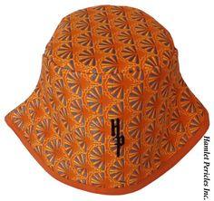 African Wax Print Unisex Bucket Hat Orange by HamletPericlesInc