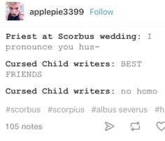 I have to admit that while I can't bring myself to accept The Cursed Child as canon (canon purist in me: *sobs*), this is so true and bugs me so much. I probably wouldn't have even considered this as a ship I could get behind if they hadn't written the story the way they did.