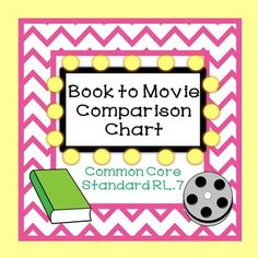 This Book to Movie Comparison Chart can be used with any movie that was made from a novel or story. The chart helps students to analyze the differences in a movie version and the actual text of the novel or story. Students will record additions and deletions and tell why they thought the director of the movie made those choices.
