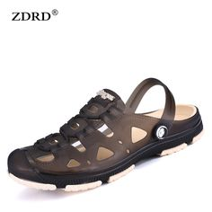 3e7f0f16556422 Fashion Summer Men slippers Breathable beach sandals croc male shoes Hollow  out of the drag men