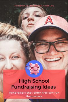 Fundraising ideas for High School aged kids | Events kids can run themselves | Fundraising Mums