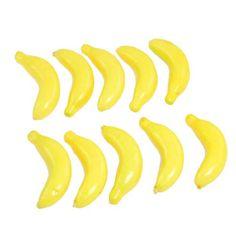 10 x Banane artificielle jaune en mousse pour la decoration de maison SP