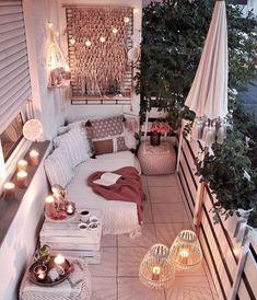 Small Balcony Decor, Outdoor Balcony, Balcony Design, Small Patio, Balcony Ideas, Balcony Garden, Balcony Decoration, Patio Ideas, Urban Balcony