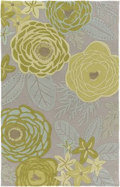 Surya ALH5034 Alhambra Green Rectangle Area Rug