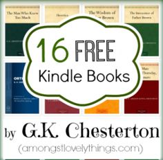 16 Free Kindle Books by G.K. Chesterton - Amongst Lovely Things