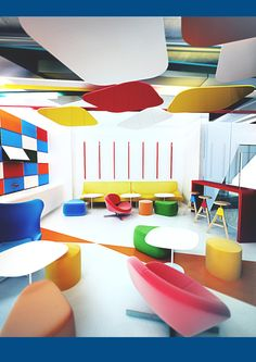 Project office BOB by Galina Lavrishcheva, via Behance Shop Interiors, Office Interiors, Google Office, Corporate Interiors, Co Working, Business Centre, Office Interior Design, Ceiling Design, Retail Design