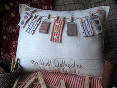 Mi almohada edredón de tendedero estilo casa de por PillowCottage