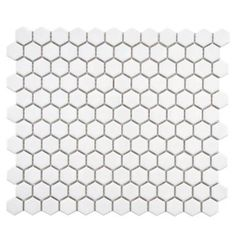Metro Hex Glossy White 11-3/4 x 10-1/4 in. x 5 mm Porcelain Mosaic Floor and Wall Tile (8.54 sq.ft./case)