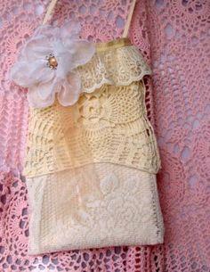 New  Ivory & Cream Crochet  Lace Mini Shabby Chic by simplyimpish, $20.00