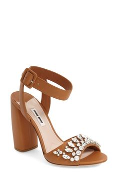 Absolutely adoring these jewel sandals from Miu Miu! They have just the right amount of sparkle.