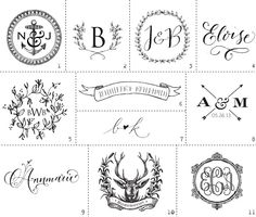 Antiquaria: New Monograms for 2013