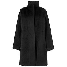 Jaeger Swing Coat, Black Online at johnlewis.com Looks super cosy for cold days. Think it would last many winters