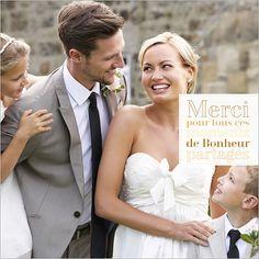 carte de remerciements de mariage avec photo personnaliser sur httpwww - Remerciement Mariage Personne Absente