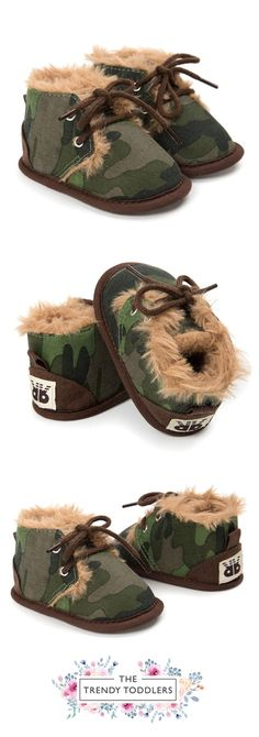 Need a new pair of shoes? SALE 50% OFF + FREE SHIPPING! SHOP Our Camo Faux Fur Boots for Baby & Toddler Boys