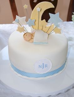 Cake with moon and stars
