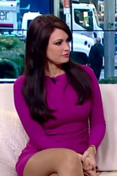 Kimberly Guilfoyle - tight dress and pantyhosed legs on Fox and Friends
