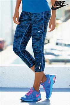 Buy Nike Blue Breeze Tank | Nike Workout clothes #nike @ http://www.FitnessApparelExpress.com
