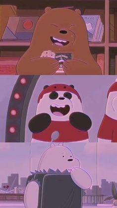Cute Panda Wallpaper, Bear Wallpaper, Cute Disney Wallpaper, Galaxy Wallpaper, We Bare Bears Wallpapers, Panda Wallpapers, Cute Cartoon Wallpapers, Ice Bear We Bare Bears, We Bear