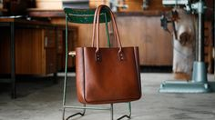 Leather Tote Bag Large CarryAll Shoulder door patersonandsalisbury