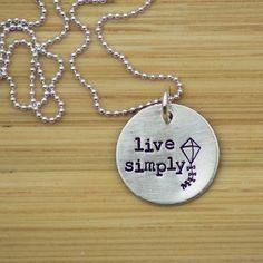 Live Simply Kite Necklace -