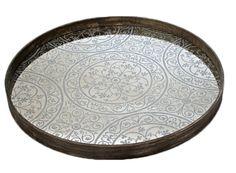 """Moroccan 24"""" Mirror Tray"""