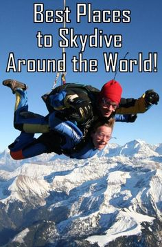 Best destinations for skydiving around the world