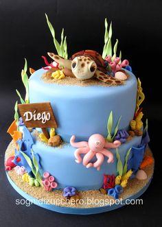 gâteau animaux de la mer