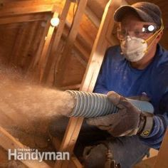 How to blow in more attic insulation yourself - I have tried this and it's very easy = just get very long - extra long cord/hose to reach into the space from downstairs/outside so you don't have a mess in your house!  Can add inches of insulation in one afternoon.  Rent machine at Loews or Home Depot for $50 per day.