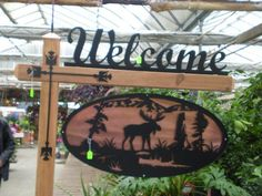 Cooper back ground with moose oval (36×19) Welcome sign(35×8 ...