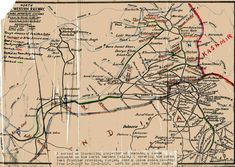 Map of North Western Railway (from Families in British India Society Image Gallery)