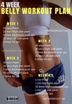 4 Week Belly Workout Plan
