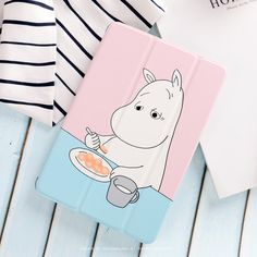 Case with cute hippo Moomin picture for inch Ipad Air 2, Ipad Pro, Ipad Mini Accessories, Tech Accessories, Coque Ipad, Cute Ipad Cases, Cute Hippo, Ipad Mini 1st Generation, Ipad Holder