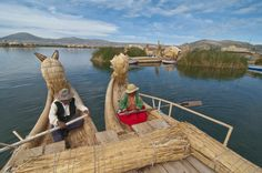 Barco de Totora, Peru.   These unique boats, fashioned from the dried Totora reeds, have become an icon of Peru. The Barco de Totora is a wonderful method of getting across the vast and beautiful stretch of water that is the Lake Titicaca.