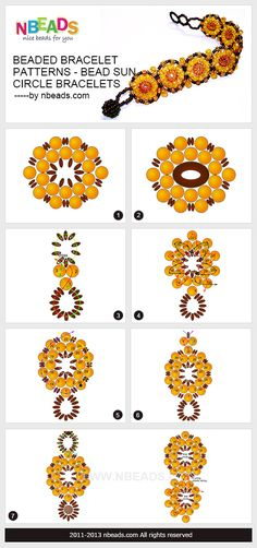 beaded bracelet patterns - bead sun circle bracelets
