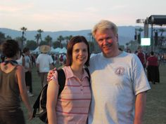 Rick and I at Coachella (back in our skinny days haha)