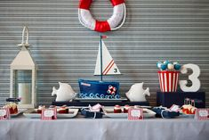 nautical themed birthday party for a 3 year old boy.  By Amy Atlas