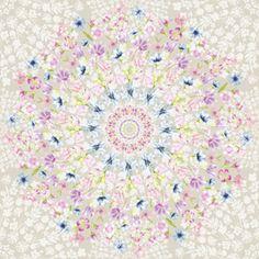 Flowers Medallion by Petroula Tsipitori Seamless Repeat  Royalty-Free Stock Pattern
