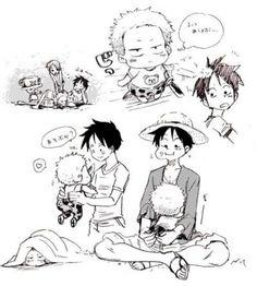 Love baby Roronoa Zoro and Monkey D. Luffy