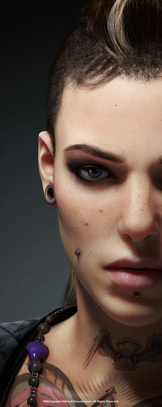 "Ubisoft's Watch_Dogs ""Clara Close Up"" 3D character artwork created in 3dsmax, Vray & Photoshop by Ubisoft artist topk ..."