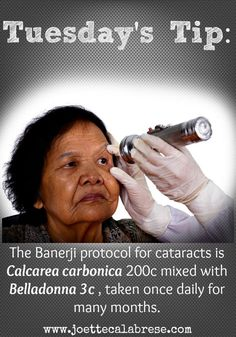 Homeopathy works for cataracts! ~joettecalabrese.com: