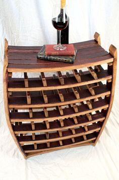 Wine Barrel Wine Rack - 100% recycled Napa valley barrel