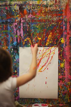 Have a splatter paint wall(away from wedding----sorta) Colorful Birthday Party, Art Education Lessons, Diy Artwork, Winter Art, Heart For Kids, Art Party, Paint Splatter, Art Studios, Creative Inspiration
