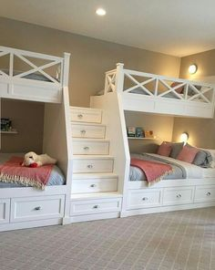 "Excellent information on ""modern bunk beds for girls& rooms"" . - Excellent information on ""modern bunk beds for girls& rooms"" Excellent inf - Bunk Beds For Girls Room, Bunk Bed Rooms, Bunk Beds Built In, Modern Bunk Beds, Bunk Beds With Stairs, Built In Beds For Kids, Custom Bunk Beds, Adult Bunk Beds, Double Bunk Beds"