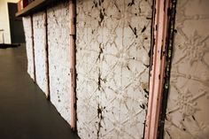 Pressed tin for the kitchen cabinets?