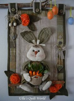 Ulla's Quilt World: Easter bunny quilt