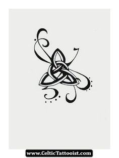 Celtic tattoo: I'd change the center knot into a clearer one, but I love the extra decoration and flair!