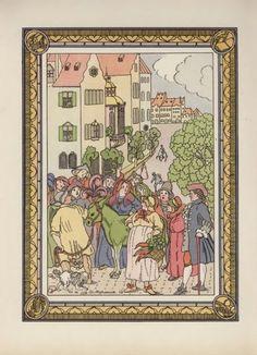 Fables and fairy tale author Ivan Chemnitzer (1745-1784), Dmitry Mitrokhin illustration, 1912